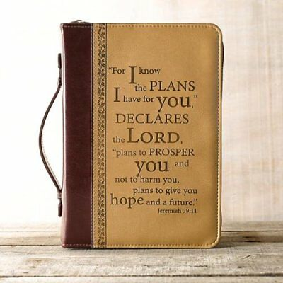 LuxLeather I Know the Plans Bible Cover, Large