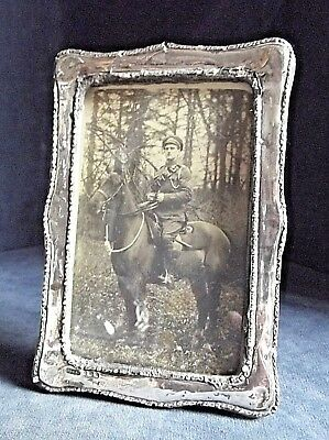 """OLD 7"""" ~ SOLID SILVER ~ Picture FRAME ~ B'ham 1907 by Green & Cadbury"""