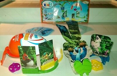 Kinder 2014, Rio 2 Toys, compl. set with all Bpz., without half egg