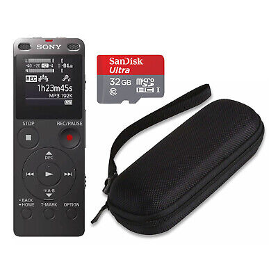 Sony ICD-UX560 Digital Voice Recorder with Built-in USB (Black) and