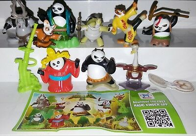 Kinder 2015, Kung Fu Panda 3, Russia, compl. set with all 9 Bpz