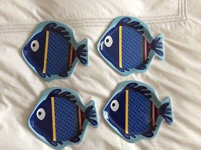 Pottery Barn Kids Fish plates and placemats