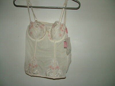 Cream Basque Bustier Corset 34 A Lepel New With Tags Suspenders Underwired