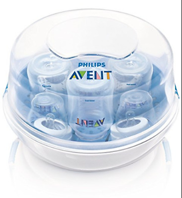 Philips Avent Microwave Steam Baby Bottle Sterilizer Sanitizer Steriliser Bpa Fr