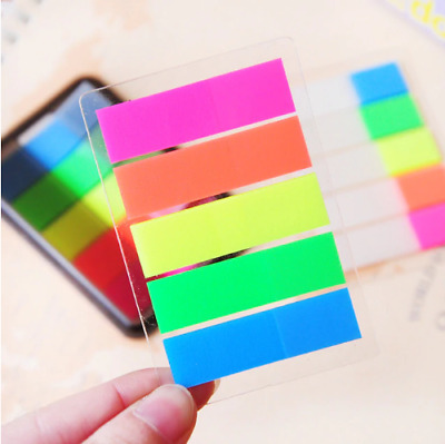 200 Colour Fluro Adhesive Sticky Repositionable Note Tab Marker Index Bookmarks
