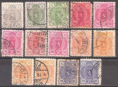 Finland   14 mixed used 1889-1892   CV$ 8+