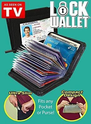 Black Lock Wallet-RFID Blocking Wallet As Seen On TV Protect from Identity Theft