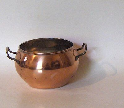 """Vintage COPPER POT - 1980's - used as 4"""" flower pot, herbs etc - Candle holder"""