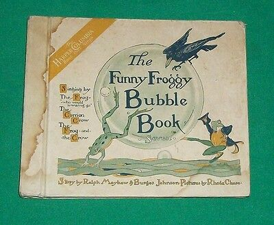 Funny Froggy Bubble Book Frog & Crow 1919 Harper Columbia Record Singing Story