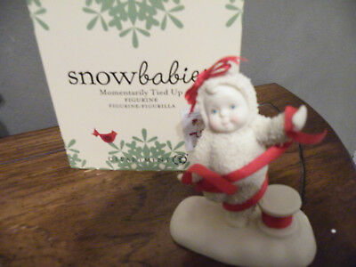Dept. 56 SNOWBABIES Figurine MOMENTARILY TIED UP/Spool of Red Ribbon/NEW - BOX