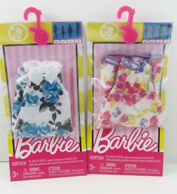 Barbie Fashionista Universal Fit Fashion Pack Separates .. Lot of 2 Floral Dress