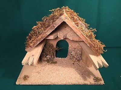 "WOOD STABLE Roman Inc Fontanini Heirloom Nativity for 5"" size Creche Italy"