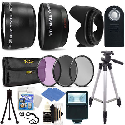 NEW Ultimate Accessory Bundle for Canon EOS Rebel T3i T5i T6i Tripod, Filters,