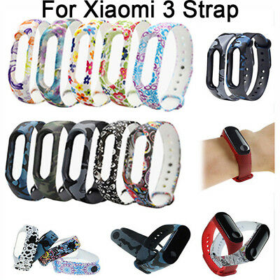 Silicone Bracelet Strap Wristband Wrist Band Replacement For Xiaomi Mi Band 3