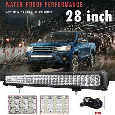 28Inch LED Light Bar Flood Spot Combo Offroad Driving Lamp 4WD 4x4 28''