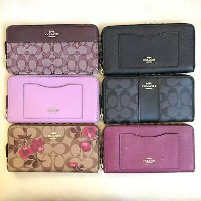 wholesale dealer 8bc9d f29ed NWT COACH ZIP Around Accordion Wallet Various Color F54007 F54630 F73345