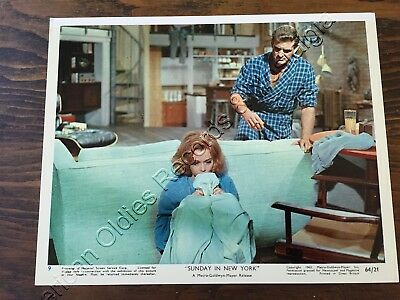 "JANE FONDA & ROD TAYLOR: 1964 ""Sunday In New York"" color photo #6 (MGM) FABULOUS"