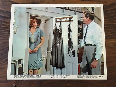 "JANE FONDA & ROD TAYLOR: 1964 ""Sunday In New York"" color photo #5 (MGM) FABULOUS"