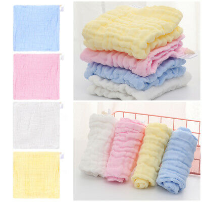 Infant Newborn Soft  Breathable Bath Towel Feeding Wipe Cloth Washcloth Gauze