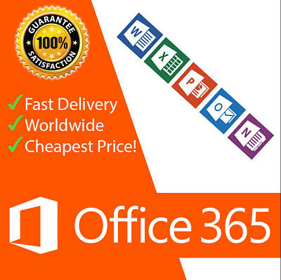 INSTANT Microsoft Office 365 Lifetime Account Subscription for 5 Devices + 5TB