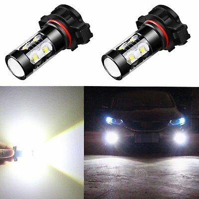LED Fog Light Bulbs Super Bright 5202 50W 12V For PS19W 12085 6000k Xenon White