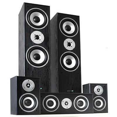 Systeme Home Cinema Design Hyundai Pack 5 Enceintes Hifi 3 Voies Son Surround