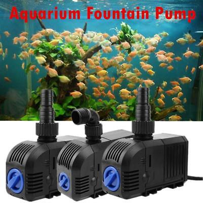 Aquarium Pump Submersible Water Fish Tank Fountain Pond Marine 500 900 1500 LPH