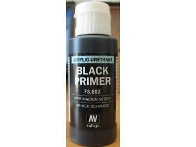 Vallejo 60ml Acrylic Black Primer # 73602