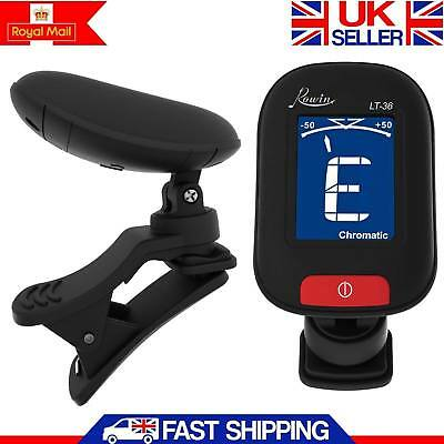 Electric Guitar Tuner Lcd Clip On Chromatic Acoustic Electric Bass Ukulele Banjo