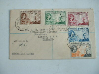 1953 Rhodes Centenary Fdc Northern Rhodesia Registered First Day Cover