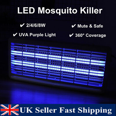 2/4/6/8W LED Electric Insect Killer UV-A Mosquito Pest Fly Bug Zapper Catcher
