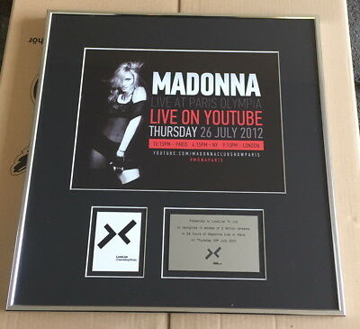 Madonna Doppel Platin Award Live at Paris Olympia 2012 - 2 Mio Streams - Youtube