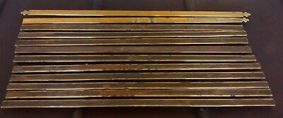 vintage/antique    12   STAIR CARPET BRASS RODS.....24 inches long