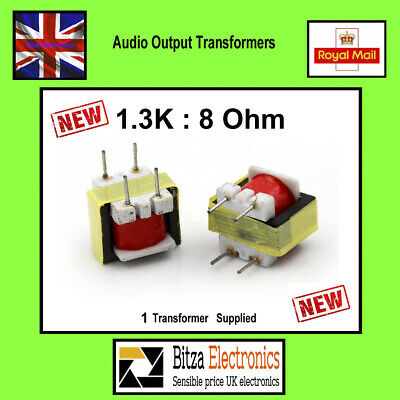2x 1.3K : 8 Ohm Audio Output transformer  UK Seller