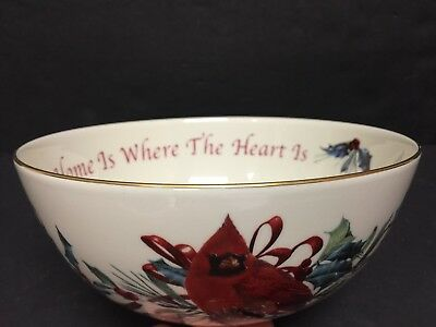 Mint Lenox Winter Greetings Sentiment Bowl Home Is Where The Heart Is Bowl