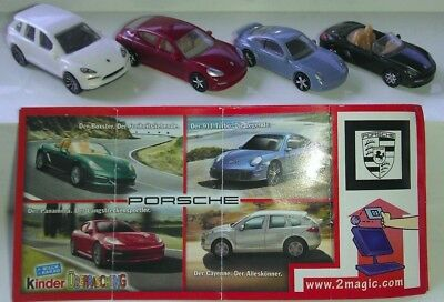 Kinder 2011, Porsche, Germany, compl. set with all Bpz