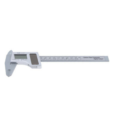 Solar LCD Digital Caliper Electronic Vernier Gauge Meter Carbon Fiber 150mm