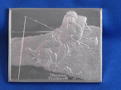 1973 Norman Rockwell Day Off Sterling Silver Medal B3560