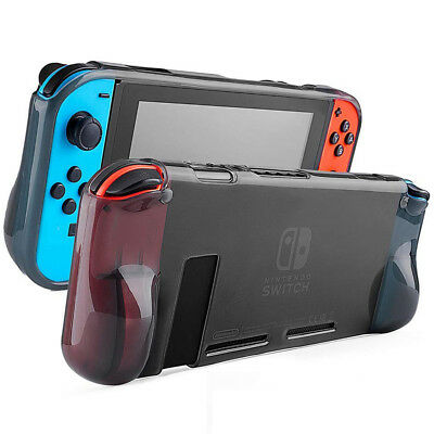 Shockproof Soft TPU Half Clear Protective Case Cover Shell For Nintendo Switch