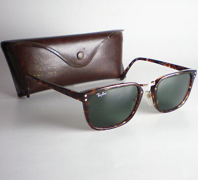 395ba0b07e5e5d Vintage Ray Ban B L USA PREMIER TRADITIONALS E Sunglasses square wayfarer  brown