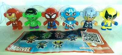 Kinder 2014, Marvel Twistheads, Portugal, compl. set with all Bpz.