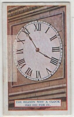 Why A Clock Has IIII For IV Roman Numerals 90+  Y/O Ad Trade Card