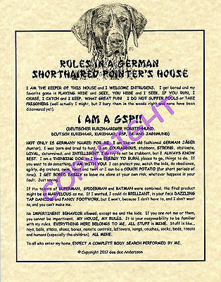 Rules In A German Shorthaired Pointer's House