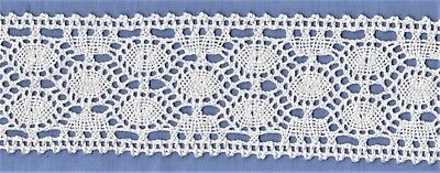 55mm White Cotton Torchon Lace (per metre)