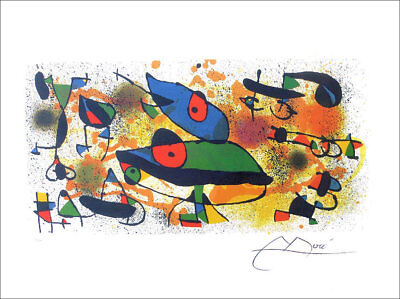 JOAN MIRO Sculptures II Facsimile Signed Offset Lithograph 23 x 30
