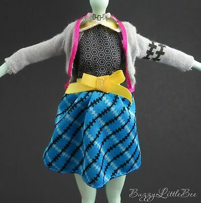 Monster High Doll~Frankie Stein~Picnic Casket~Outfit~Dress~Sweater