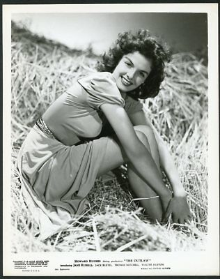 """JANE RUSSELL Original Vintage 1946 STUNNING LEGGY PORTRAIT Photo """"THE OUTLAW"""""""