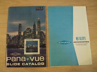 "VTG Sixth Ed SAWYERS Photo~""PANA-VUE SLIDE CATALOG""~Accessories Mailers~"
