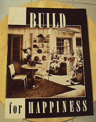 """VTG 1941 WWII Era Security Bank HOME PLANS~""""Build for HAPPINESS""""~Los Angeles CA~"""