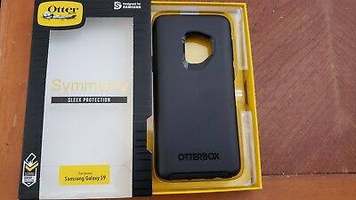 OtterBox SYMMETRY SERIES Protective Case Cover for Samsung Galaxy S9, Black, New